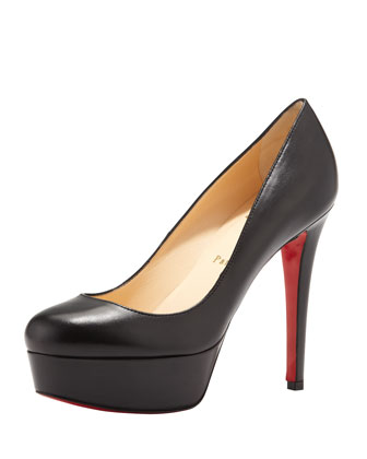 Christian Louboutin No Prive Leather Slingback Red Sole Pump, Black - Bergdorf Goodman