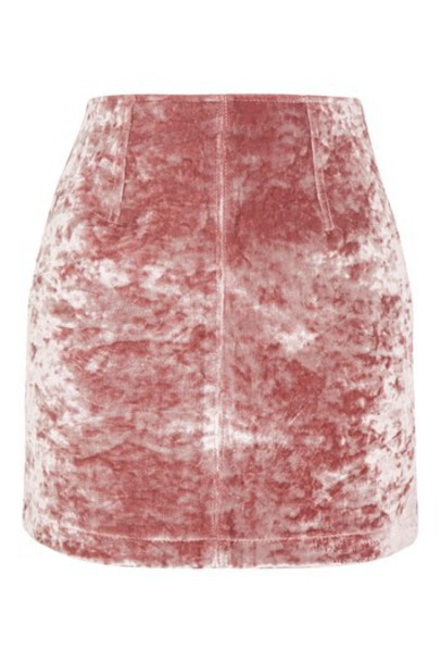Topshop skirt denim skirt denim velvet blush
