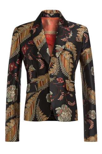 blazer jacquard multicolor jacket