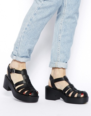New Look | New Look Jilly Caged Heeled Sandals at ASOS