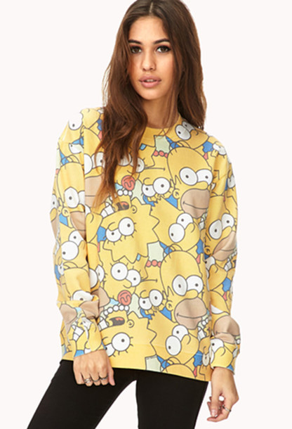 shirt the simpsons the simpsons the simpsons sweater top simpson's jumper i am in love