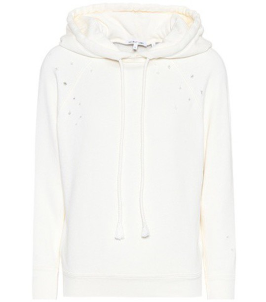 Helmut Lang hoodie cotton white sweater