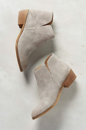 shoes ankle boots booties grey boots