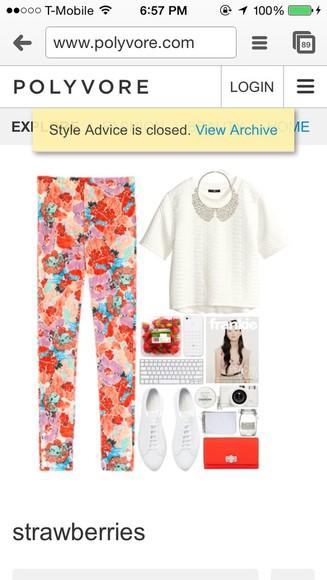 printed pants white necklce white blouse knitwear bowtie necklace blouse