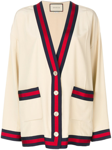 gucci cardigan cardigan women nude cotton silk sweater