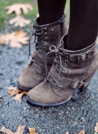 heels boots buckles