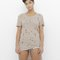 Nova tattered hi-lo tunic in taupe at flyjane