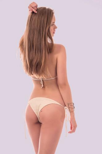 swimwear tie side bikini bottoms dbrie swim white bikiniluxe