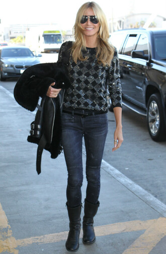 sweater heidi klum sequins