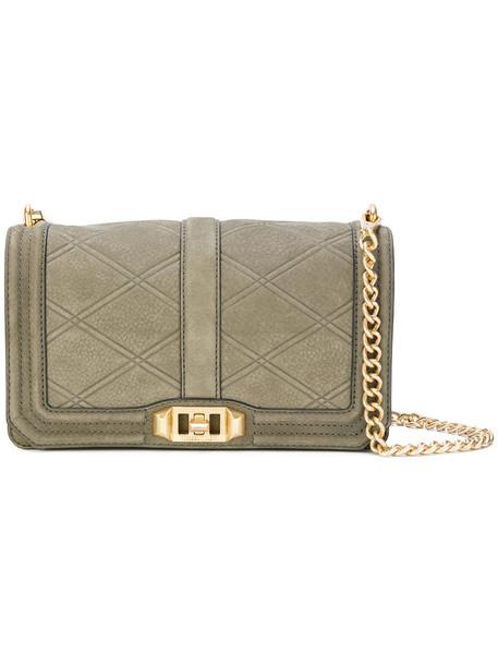 Rebecca Minkoff women love embellished guitar leather green bag