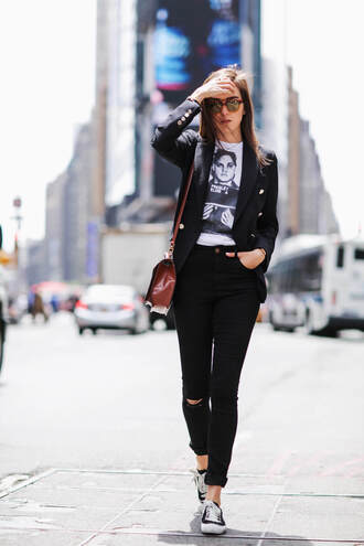 style scrapbook blogger jeans t-shirt bag jacket shoes
