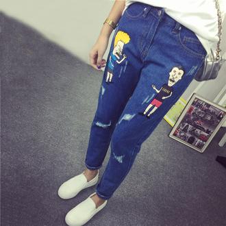 jeans cartoon jeans denim pants