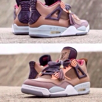 shoes air jordan jordans louis vuitton shoelover lv shoes designer spain france sneakers nike air nike retro jordans kicks guys girl dope louis vuitton sneakers low top sneakers brown