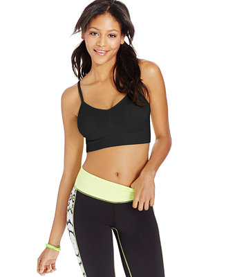 f89a42273923a Material Girl Active Juniors  Ribbed Sports Bra - Juniors Tops - Macy s