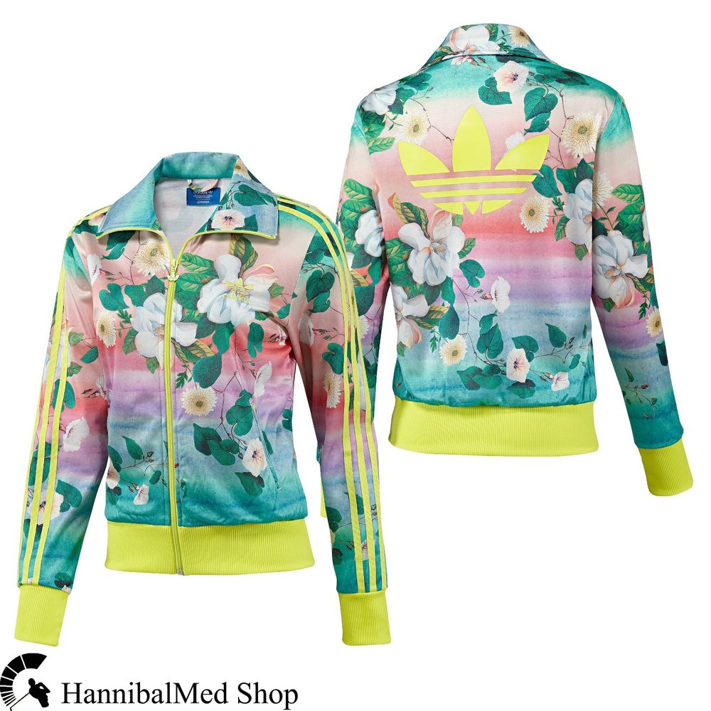 Adidas Originals Brazilian Farm Firebird Floralina Track Top F78107 Women Jacket