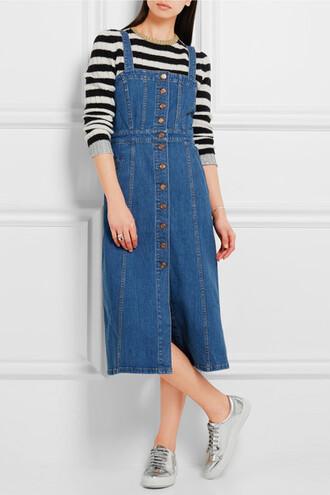 dress denim dress button up overalls