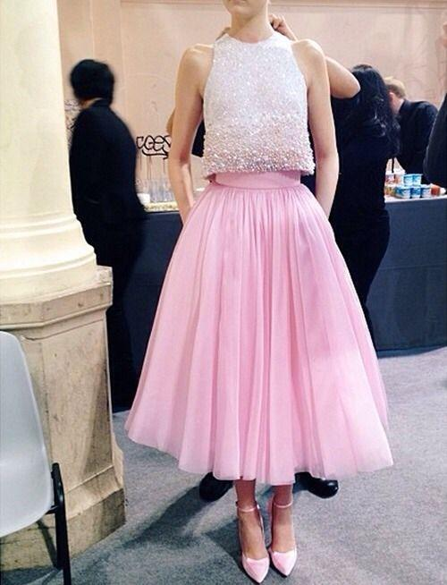2016 Princess Pink Tutu Skirt Prom Dresses With Sparking Sequins