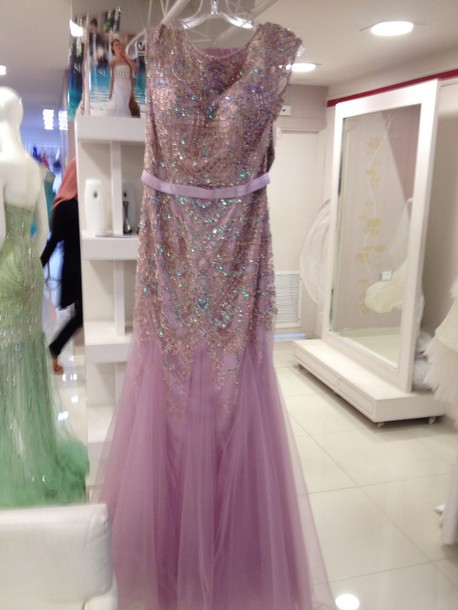 dress jovani laveder/pink chifon
