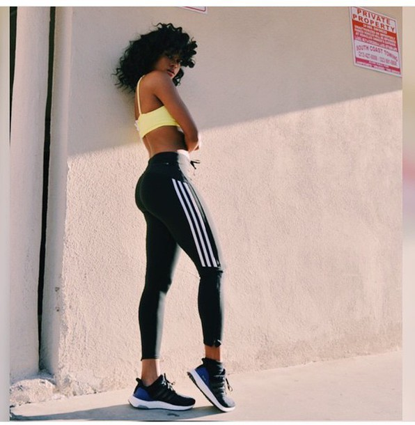 Pants black white black and white shoes sportswear sportswear adidas yoga pants style ...