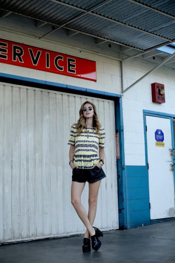 the blonde salad blogger top jewels bag sunglasses