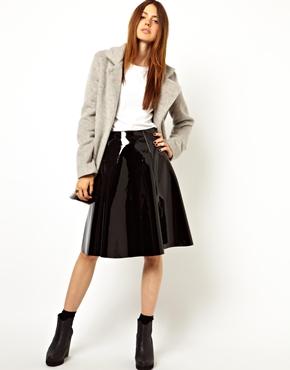 ASOS | ASOS Full Midi Skirt in Patent at ASOS