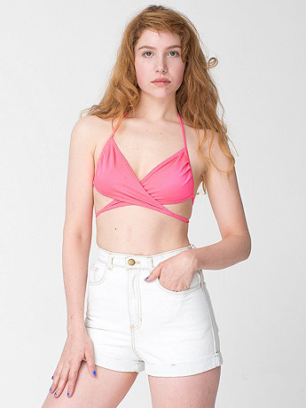 Bleach High-Waist Jean Cuff Short | American Apparel