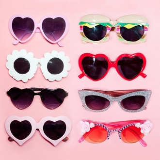 sunglasses pink blue green yellow cute vintage pink bedazzled glasses flowers retro sunglasses heart sunglasses