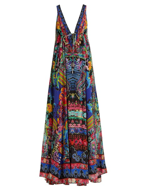 Camilla dress maxi dress maxi pretty print blue