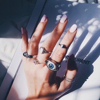 nail accessories ring knuckle ring eye jewels