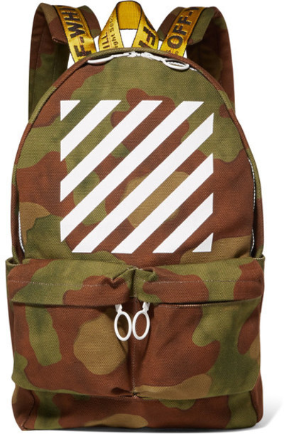 backpack canvas backpack green army green bag