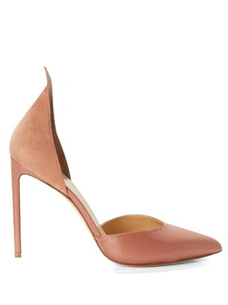 pumps suede light pink light pink shoes