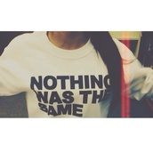 sweater,nothing was the same,drake,quote on it,white sweater,black,white