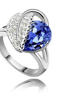Austrian Crystal Jewellery Diamond Shine Silver & Royal Blue Earrings E247 | Amazing Shoes UK