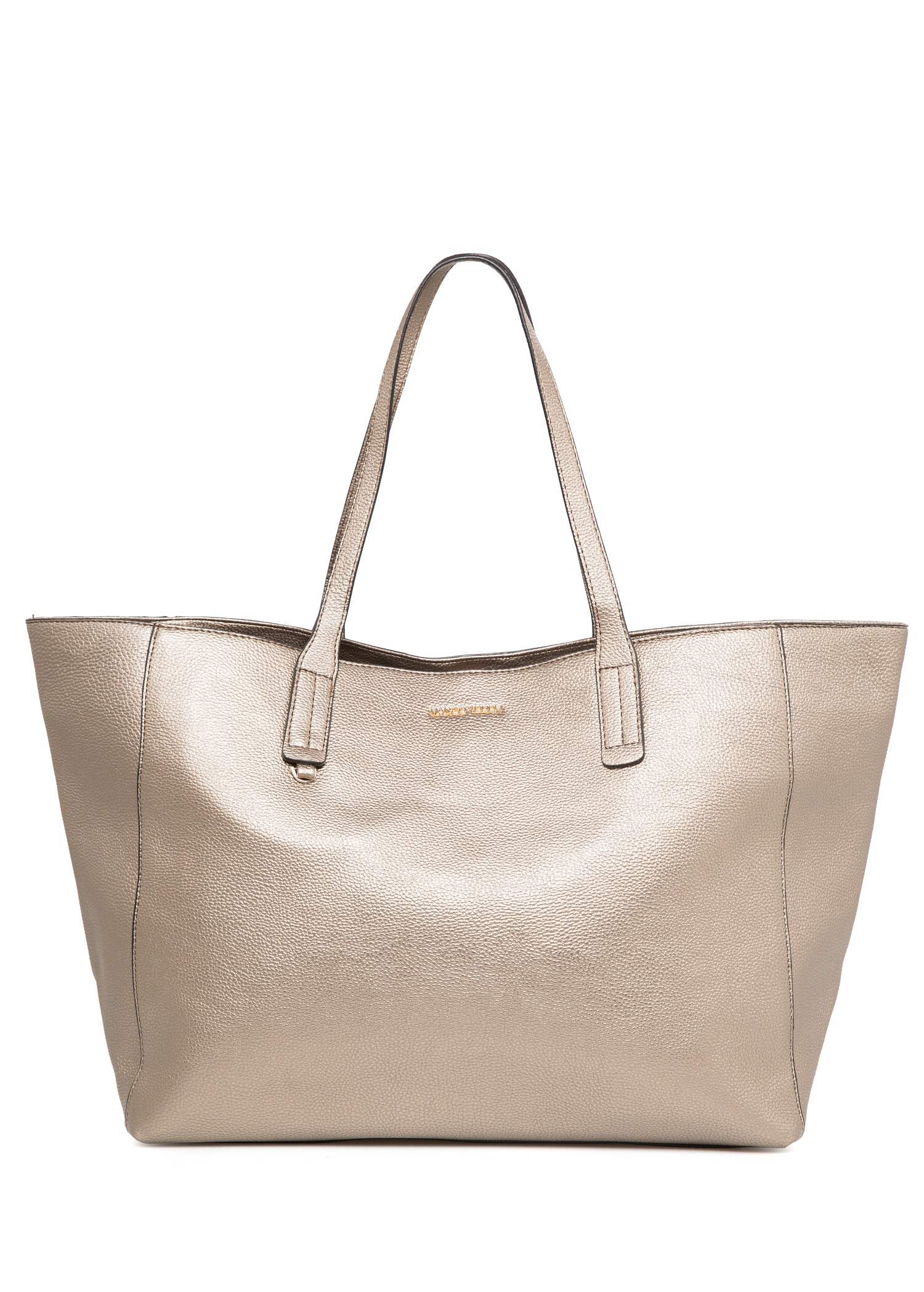 Pebbled shopper bag - Bags for Women | MANGO