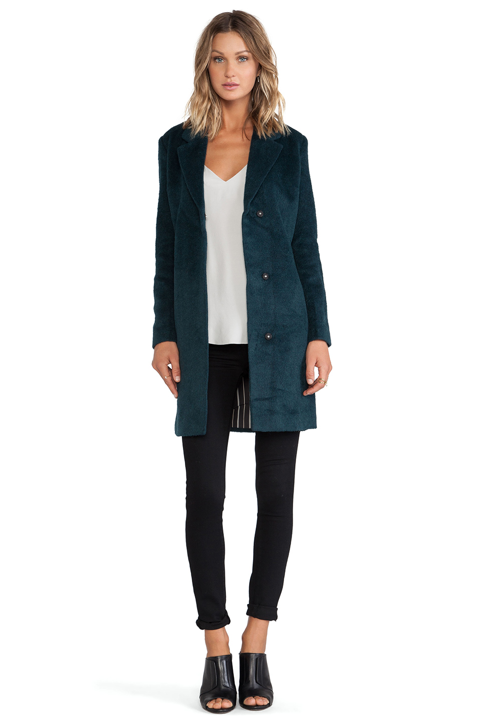 Scotch Wool Coat in Teal from REVOLVEclothing.com