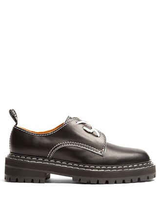shoes leather black