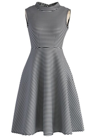 dress stripes of chic airy skater dress chicwish stripes chic