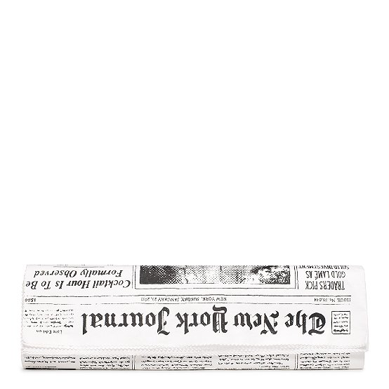 kate spade |   fabric purses - the journal newspaper clutch