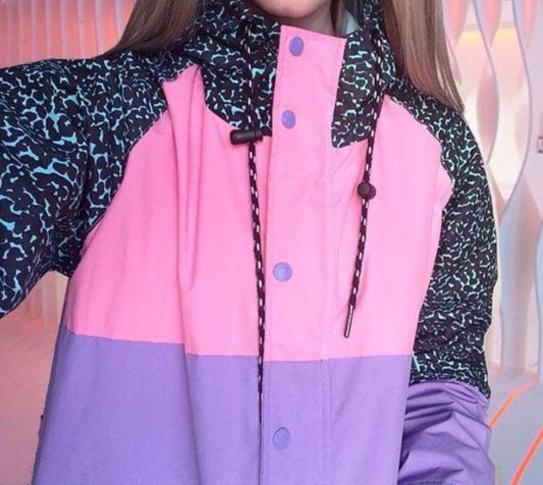 jacket pink printed sweater pastel pale cute purple pastel sweater style instagram windbreaker