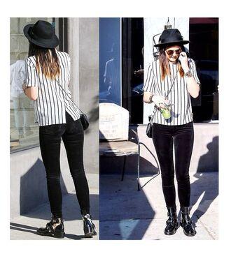 blouse kylie jenner ootd girl stripes girly striped shirt