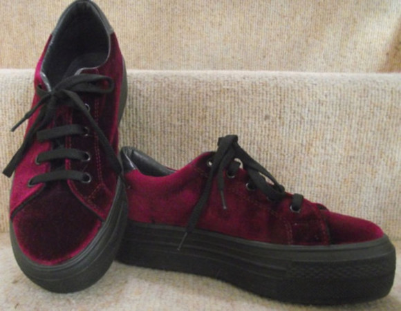 velvet sneakers thick sole vans?