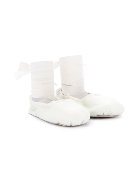 Tutu Du Monde leather white shoes