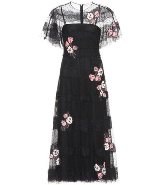 REDValentino dress lace dress lace floral black