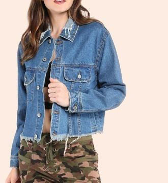 jacket blue denim denim jacket girl girly girly wishlist frayed denim