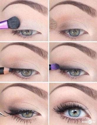 make-up pretty green eyes light makeup