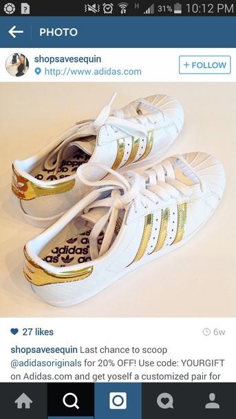 shoes white adidas white gold adidas gold