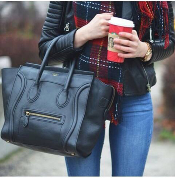 bag style fashion black fall outfits