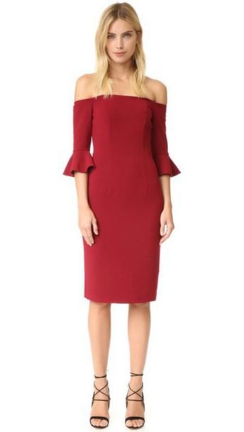 Black Halo Madigan Sheath Dress - Mulberry
