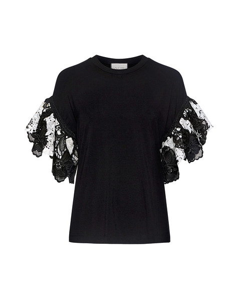 Alexis t-shirt shirt t-shirt lace white black top