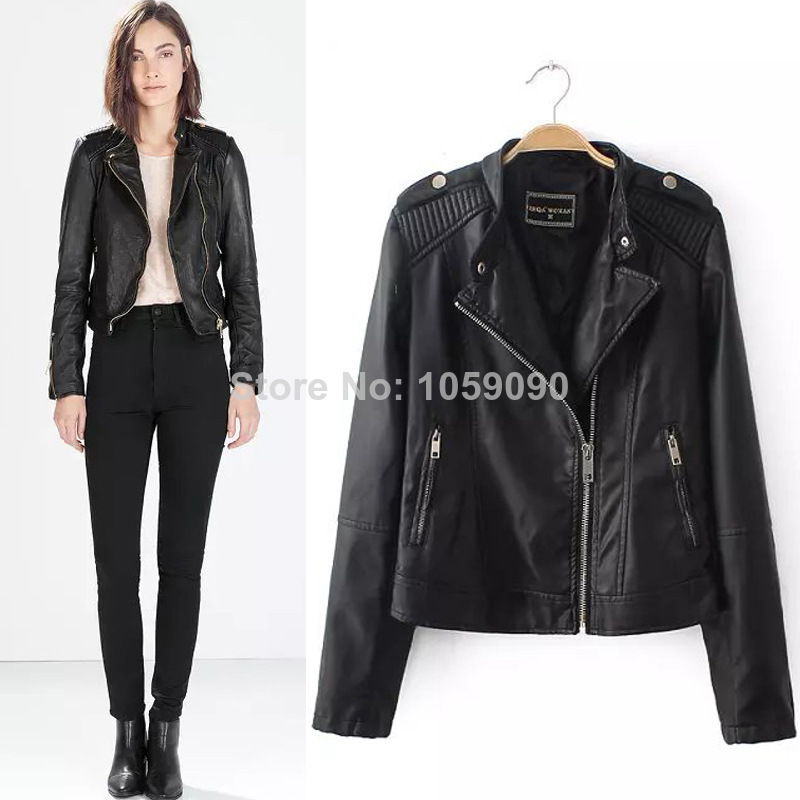 Aliexpress.com : buy women 2014 new chaqueta vestidos autumn zipper motorcycle biker leather epaulet long sleeve mandarin collar blazer roupas from reliable collar necklace suppliers on vogue official online shop
